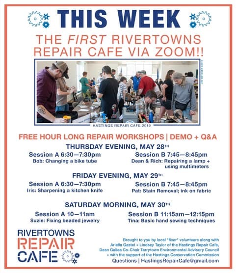 Rivertowns Repair Café via Zoom